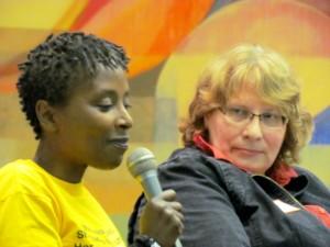 panel - Louise Simbandumwe, Brenda Anderson